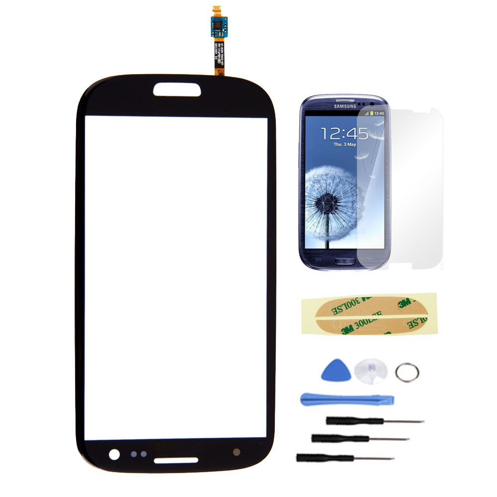 New Front Screen Glass Lens + Sensor for SamSung Galaxy SIII S 3 i9300 Black