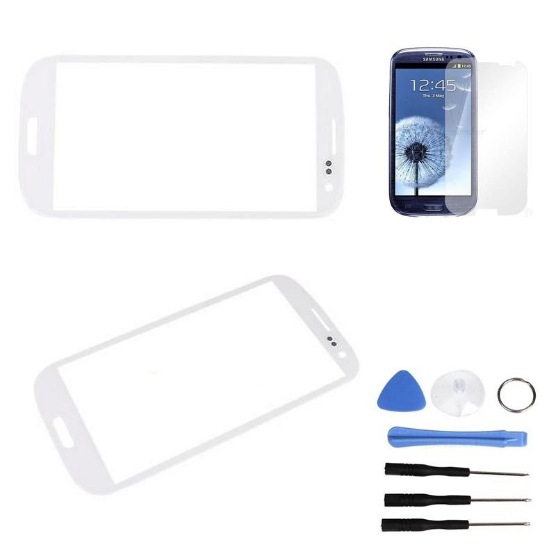 Replacement Screen Glass Lens for Samsung Galaxy S3 3 SIII III i747 i535 White