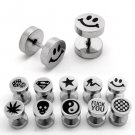 Any 5pc Surgical Steel Assorted Barbell (10 Designs) Earring Stud Post Lady's/Mens