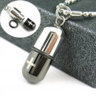 316L Titanium Stainless Steel Openable Pill/Drug Pendant Necklace