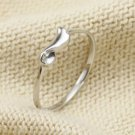 925 Sterling Silver Little Angel Wing Ring, Stacking Band