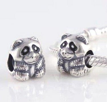 925 Sterling Silver Panda Charm - fits European Beads Bracelets