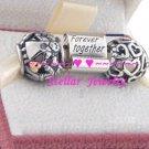 925 Sterling Silver FAMILY FOREVER Charm Beads Gift Set - fits European Beads Bracelets