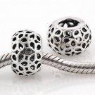 925 Sterling Silver Openwork Lotus Flower Spacer - fits European Beads Bracelets