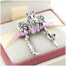 925 Sterling Silver I LOVE DOG GROOMING Charms Gift Set - fits European Beads Bracelets