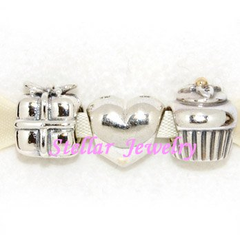 925 Sterling Silver BIRTHDAY Charms Gift Set - fits European Beads Bracelets