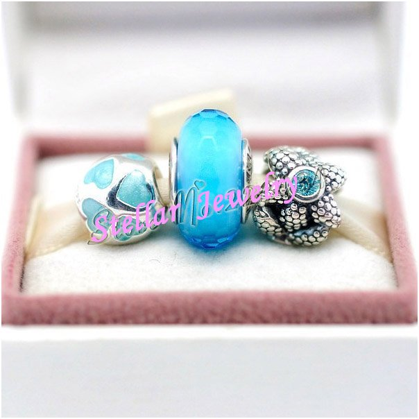 925 Sterling Silver UNDER THE SEA Charms Gift Set - fits European Beads Bracelets