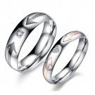 "Set of Titanium Stainless Steel Couple ""YOU ARE MY LOVE"" Arrow Design Promise Love Couple Ring"