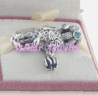 925 Sterling Silver OCEAN WONDERS Charms Gift Set - fits European Beads Bracelets