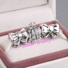925 Sterling Silver CHRISTMAS TREE LIGHTS Charms Gift Set - fits European Bracelets
