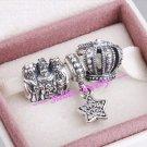 925 Sterling Silver FOLLOW THE STAR Charm Gift Set - fits Biagi/Pandora/Troll/European Bracelets