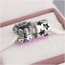 925 Sterling Silver BIRTHDAY TREATS Charms Gift Set - fits European Bracelets