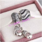 925 Sterling Silver SNOW BALL Charms Gift Set - fits European Bracelets