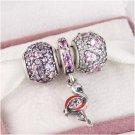 925 Sterling Silver FLAMINGO FLING Charms Gift Set - fits European Bracelets