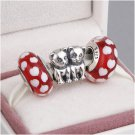 925 Sterling Silver CAT LOVERS Charms Gift Set - fits European Bracelets