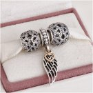 925 Sterling Silver HEAVENLY ANGEL Charms Gift Set - fits European Bracelets