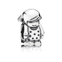 925 Sterling Silver Precious Girl Silver Charm Bead