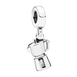 925 Sterling Silver Espresso Can Dangle Pendant Charm