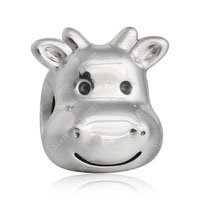 925 Sterling Silver Cheerful Cow Charm Bead