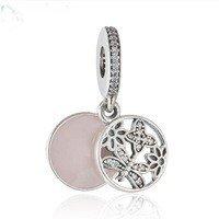 925 Sterling Silver Springtime Dangle Pendant Charm