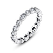 925 Sterling Silver Alluring Brilliant Marquise Ring Band