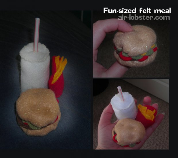 Fast Food Felt Meal