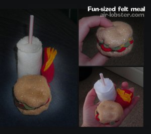 Fast Food Felt Meal