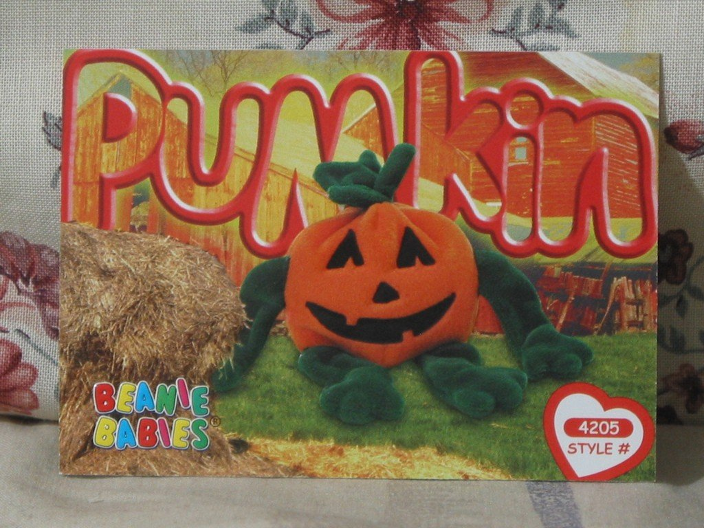 Beanie Babies Card 2nd Edition S3 1999 Pumpkin