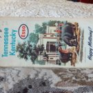 VINTAGE ROAD MAP Tennessee Kentucky States Esso 1962