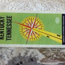 VINTAGE ROAD MAP Kentucky  Tennessee States AAA 1960