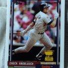 CHUCK KNOBLAUCH 1992 Topps Baseball Trading Card No 23