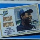 HANK AARON Topps 1989 Baseball Trading Card Subset No 663 Off Cut