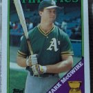 MARK MCGWIRE Topps 1988 All Star Rookie Baseball Trading Card No 580