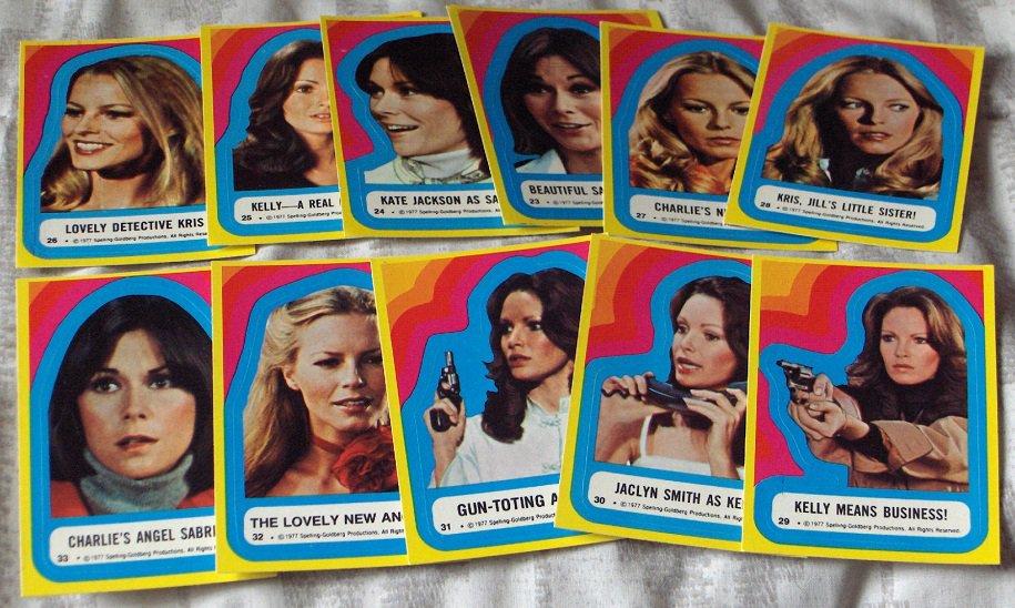 CHARLIES ANGELS 1977 Series 3 Sticker Insert Trading Card Set