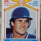 RYNE SANDBERG 1987 Ralston Purina Baseball Trading Card No 15 of 15