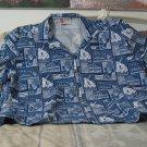 HILO HATTIES Original Hawaiian Shirt Size XL Dark Blue