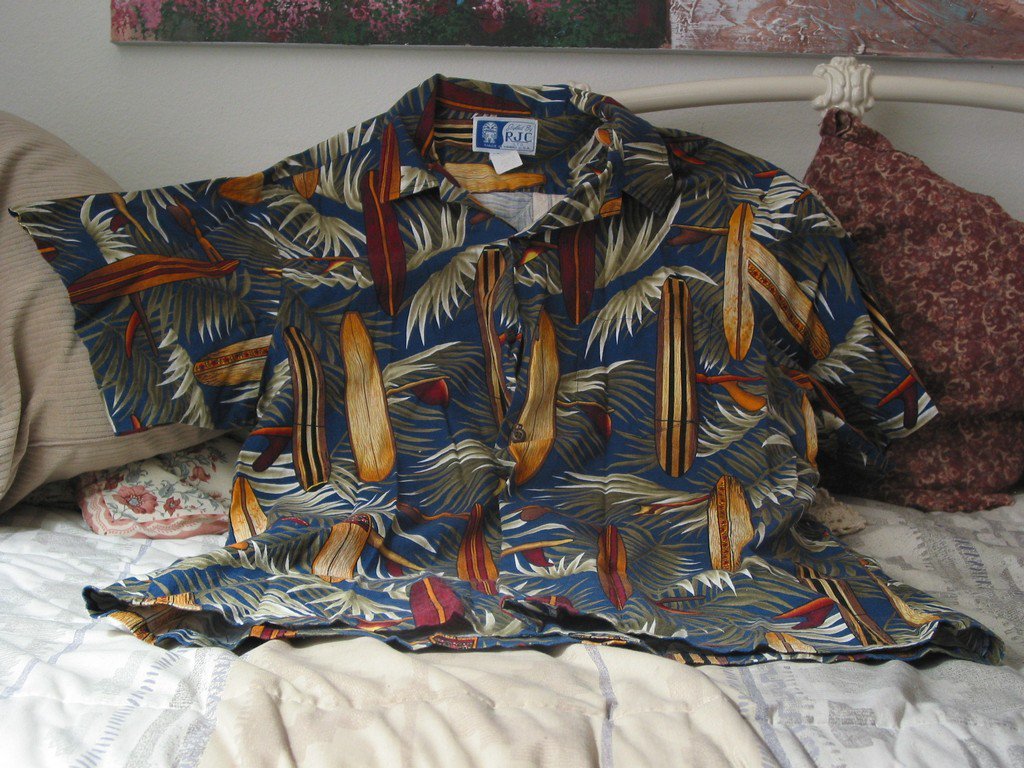 RJC Foral Hawaiian Shirt Size XL Hawaii Surf Boards and Palms