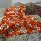 ROUNDY BAY Womens Beach Mu Mu Dress Orange Sz M