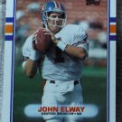 JOHN ELWAY 1989 Topps Football Trading Card No 241