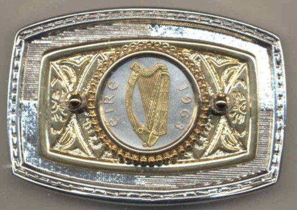 148-BB Belt Buckle-Irish Penny
