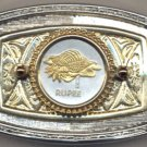 181-BB Belt Buckle-Seychelles 1 Rupee