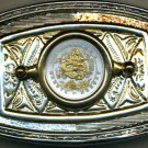189-BB Belt Buckle-Liberia $1 coin Year of the