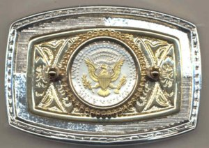 36BB Belt Buckle - Kennedy half (reverse) (1970-date)
