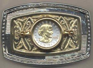 74BB Belt Buckle - S.B. Anthony dollar (1979-1981 & 1999)