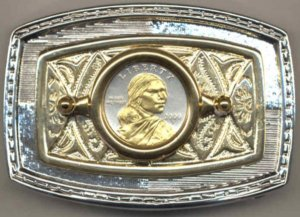 82BB Belt Buckle - Sacagawea dollar (2000 - date)