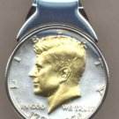 M34 Bicentennial Kennedy half (1976) Total size of clip 1-1/4