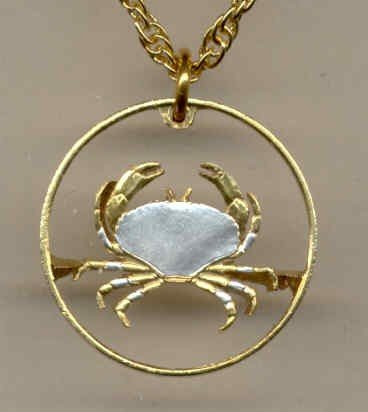 """C-161 Guernsey penny """"Crab"""" (U.S. nickel size)"""