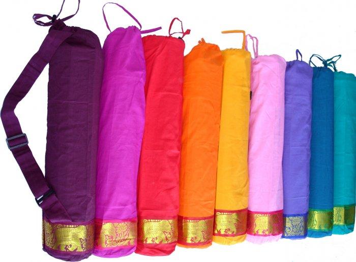 Gold elephant yoga/pilates mat bag