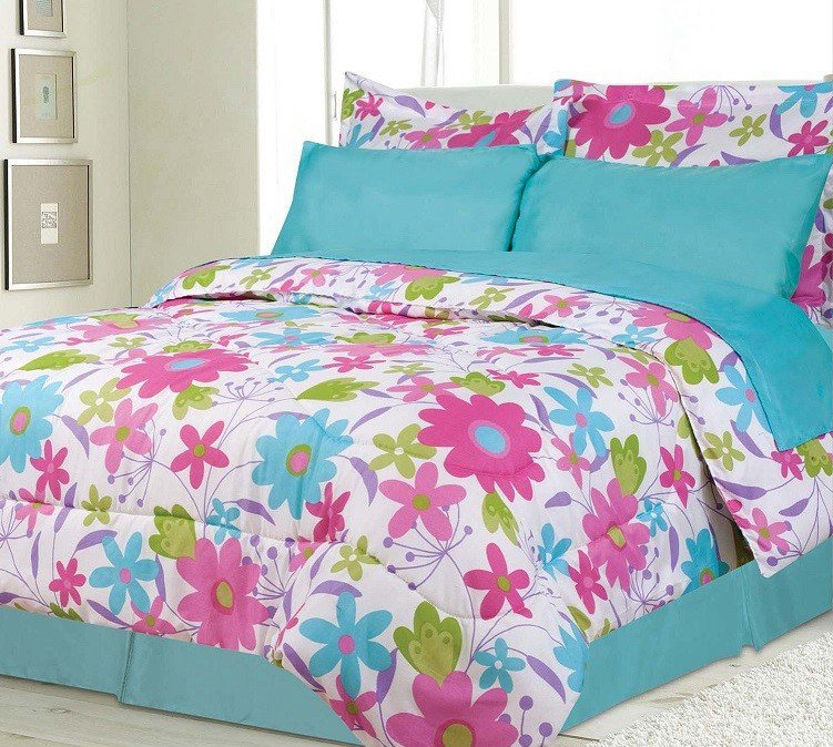 pink and teal bedroom becky teal pink white bed in a bag 16694