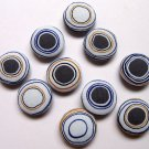 FABRIC BUTTONS - 1 INCH BUTTONS - IRREGULAR GREY AND WHITE DOT SET OF 50